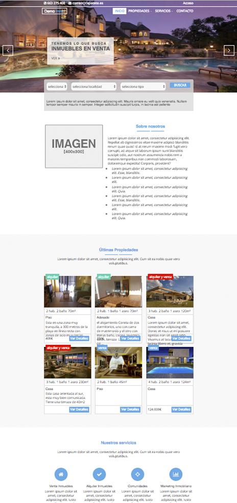 Gestión inmobiliaria fácil. Web profesional para inmobiliarias ...